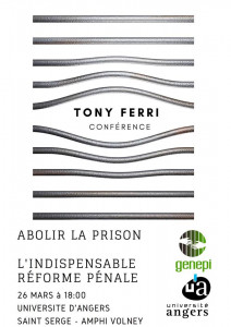 Conférence à Angers (avec le Genepi et l'université d'Angers)