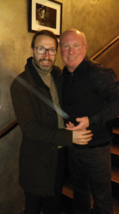 Hervé Barbereau et Tony Ferri, au Théâtre parisien des Feux de la Rampe, en mars 2018