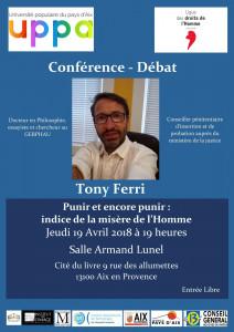 Conférence Tony Ferri à l'UPPA Aix-en-Provence