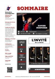 Sommaire de la Revue de la prestidigitation, numéro 625, mai-juin 2018 (partie 1)